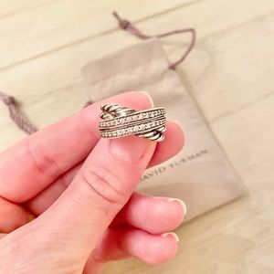 Authentic David Yurman Diamond Crossover Ring
